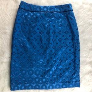 Anthropologie Maeve Blue Pencil Skirt